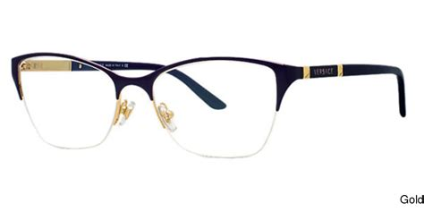buy versace ve1218 semi rimless half frame prescription