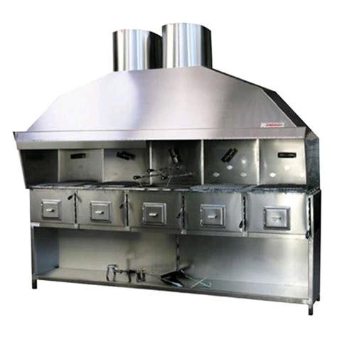 cucina vegetale cucina a carbone vegetale in acciaio inox n 176 5 fornelli