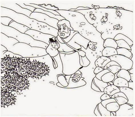 free the parable of the sower coloring pages
