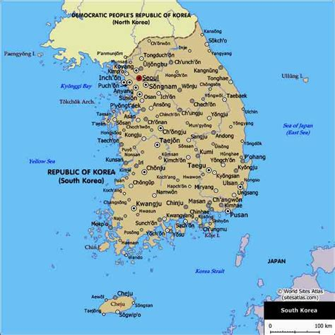 map of south korea map of k j html
