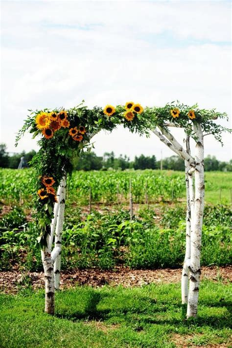 Wedding Arch With Sunflowers by 100 Bold Country Sunflower Wedding Ideas Sunflower