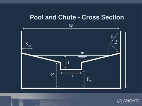 pool cross section ppt pool and chute fishways powerpoint presentation id