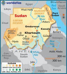 Sudan World Map by Sudan Large Color Map