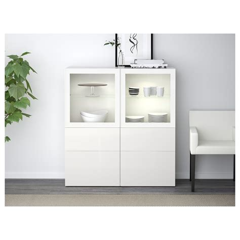 besta with glass doors best 197 storage combination w glass doors white selsviken