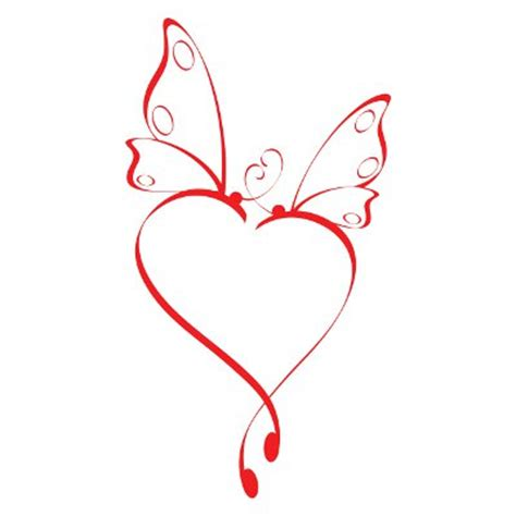 butterfly heart tattoo designs small tattoos