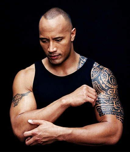tatouage polynesien de dwayne johnson the rock
