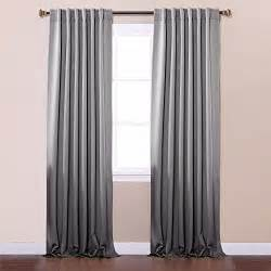 Thermal Back Curtains Best Home Fashion Thermal Insulated Blackout Curtains Back Tab Rod Pocket Grey 52