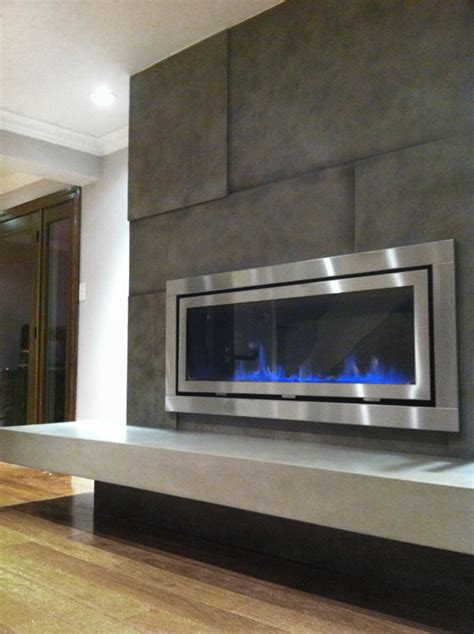 fireplace surround contemporary living room  york
