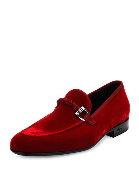 mens velvet loafer ferragamo lord 2 velvet slip on loafer in for lyst