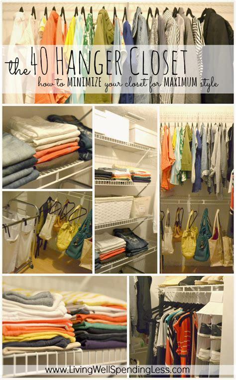 Minimize Your Wardrobe the 40 hanger closet how to minimize your wardrobe for