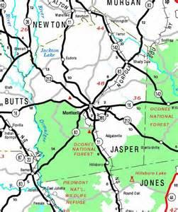 jasper county map georgiainfo
