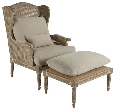 Country Accent Chairs by Stephen Hemp Country Wing Back Chair With Ottoman