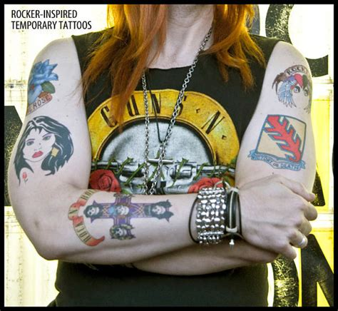 axl inspired temporary tattoos handmade guns n by