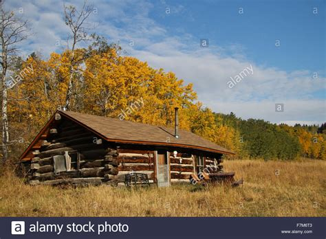 Paw Cabins by Log Cabin In The Paw Mountains In Central Montana Fall Stock Photo Royalty Free Image