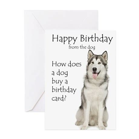 Birthday Card Template For Dogs by Husky Birthday Greeting Cards By Shopdoggifts