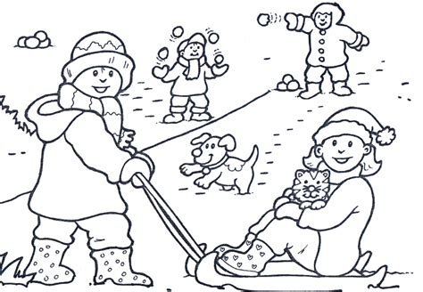 snow coloring pages dog and kid in winter grig3 org winter coloring page happiness winter coloring pages of