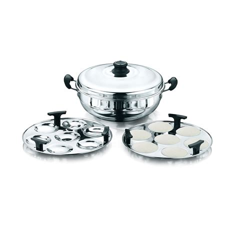 kitchen essentials induction idli steamer kadai royal 2 idli plates kitchen essentials induction idly steamer kadai royal 2 idli plates buy at best price