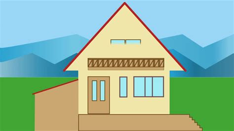 house animated little family house building animated house construction
