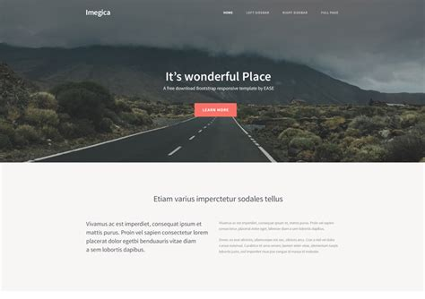Imagica Free Bootstrap Startup Website Template Ease Template Startup Website Template Free