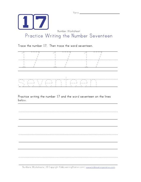 Number 17 Worksheet The Best And Most Comprehensive - 17 best images about school on maze