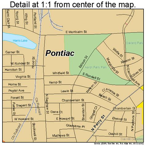 where is pontiac michigan on the map pontiac michigan map 2665440