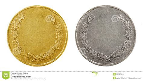 gold coin template blank coins stock images image 35127314