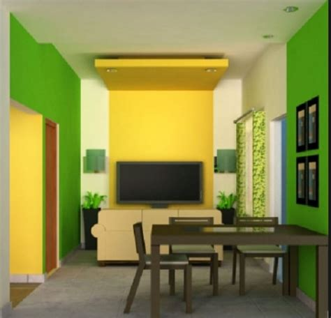 rumah cat hijau bolu pandan jasa renovasi kontraktor