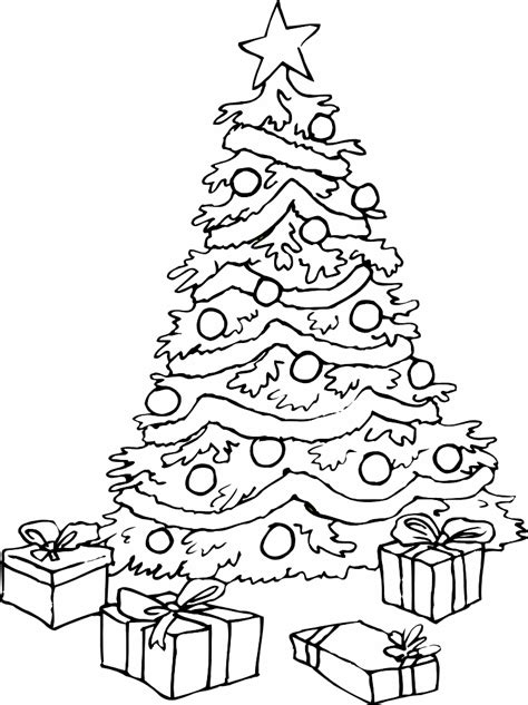 printable coloring pages of christmas tree coloring pages of christmas trees coloring home