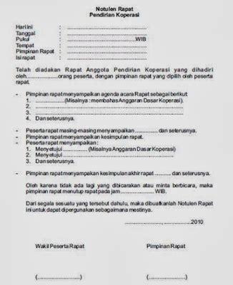 Contoh Surat Notula Tapat by Contoh Format Notulen Rapat Sekolah Terbaru