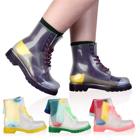 jelly boots new womens clear festival jelly wellington