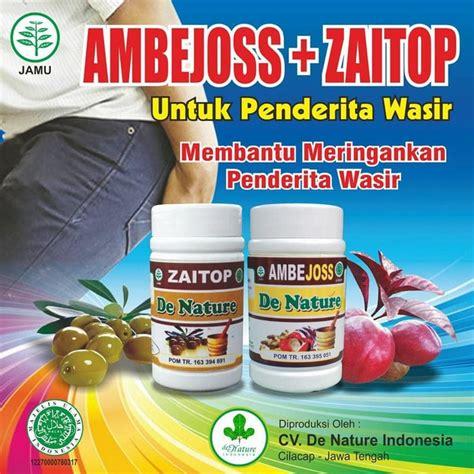 Obat Herbal De Nature kapsul obat ambejoss dan zaitop sebagai obat wasir obat herbal tradisional