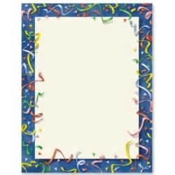 Confetti border letter paper ideaart