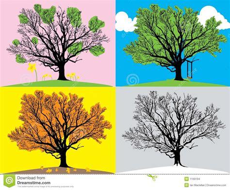 illustration of season trees four seasons illustration stock vector illustration of bright 1169194