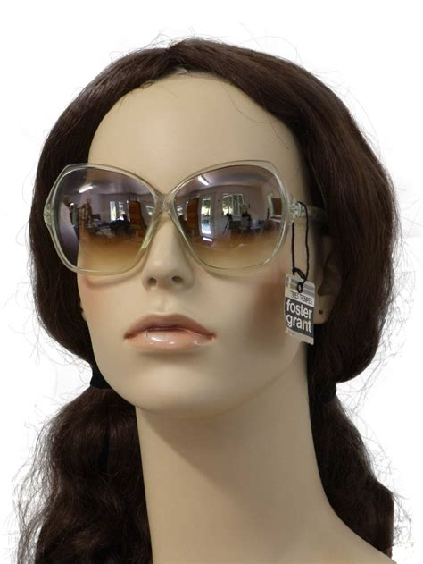 Foster Grant Daring Womens Fashion Style Sunglasses Original 1970 s retro glasses late 70s foster grant unisex new grayish translucent plastic