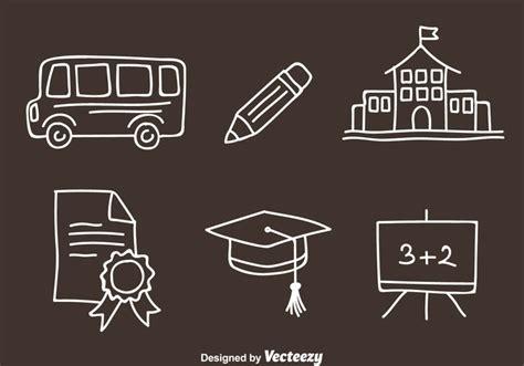 free school doodle vectors school doodle vector icons free vector