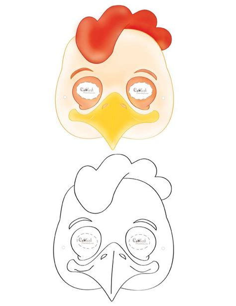 printable chick mask printable chicken mask coolest free printables school