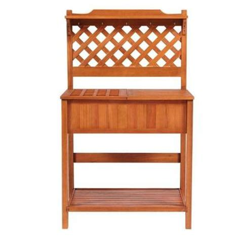 potting bench home depot home decorators collection 60 in h x 37 in w natural