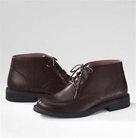 lands end boots lands end s clifton lace up dress boots 128 ebay