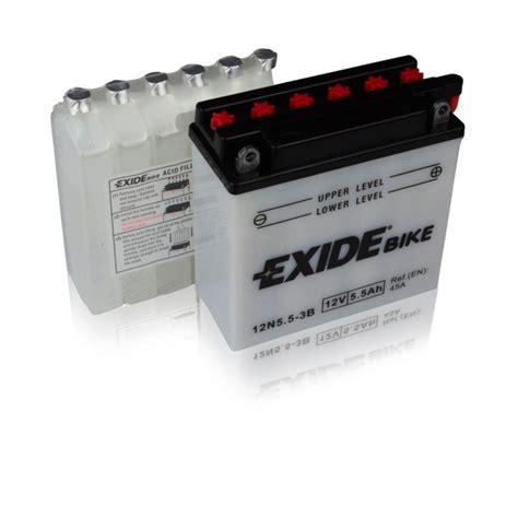 Motorradbatterie 12v 8 5ah by Exide Motorradbatterie Bike 12n5 5 3b 5 5ah Din 50611