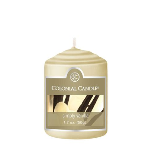 Colonial Candle Simply Vanilla 1 7 Oz Votive Colonial Candle