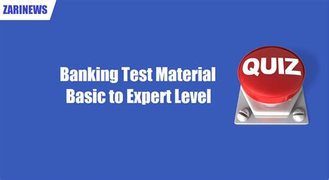 bank test banking test material basic to expert level