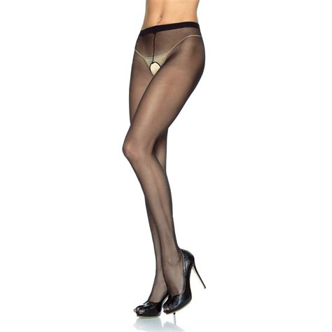 Crotchless Tights leg avenue 1905q plus size sheer crotchless tights
