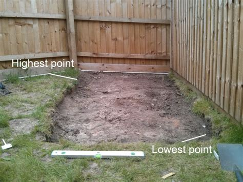 advice  building  shed base   gradient helpfulgardenercom gardening forum