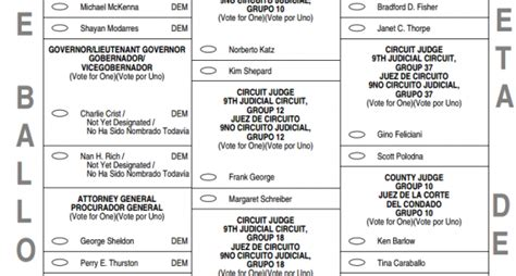 election report sle 2016 florida voting ballot sle primary voters to