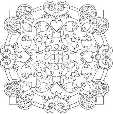 mandala coloring pages hearts free coloring pages of mandalas