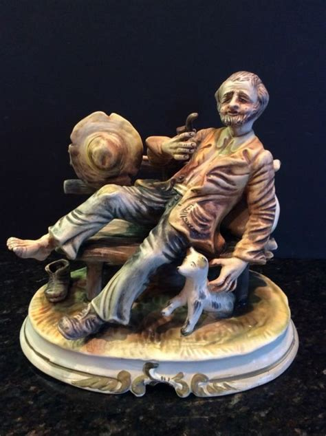 hobo on a bench capodimonte dog shop collectibles online daily