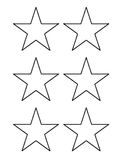 star pattern in c pdf 3 inch star pattern use the printable outline for crafts
