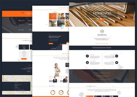 single page website template html5 free momentio free html5 css3 single page website template