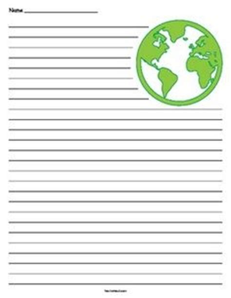 earth day writing paper earth writing lined paper earth day earth and paper