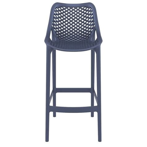 bar stool outdoor furniture compamia air patio bar stool in dark gray isp068 dgr